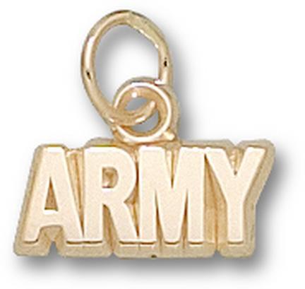 "Army Black Knights ""Army"" 3/16"" Charm - 14KT Gold Jewelry"