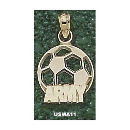 "Army Black Knights ""Army Soccerball"" Pendant - 10KT Gold Jewelry"