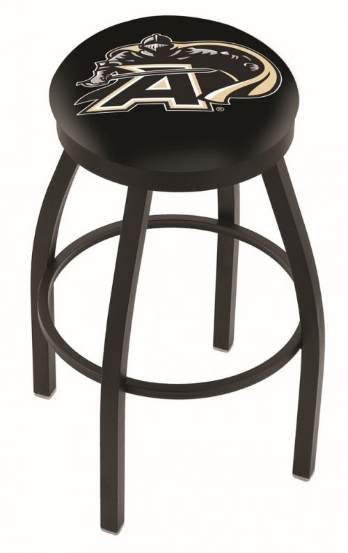 "Army Black Knights (L8B2B) 30"" Tall Logo Bar Stool by Holland Bar Stool Company (with Single Ring Swivel Black Solid Welded Base)"