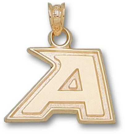 "Army Black Knights New ""A"" 1/2"" Pendant - 10KT Gold Jewelry"