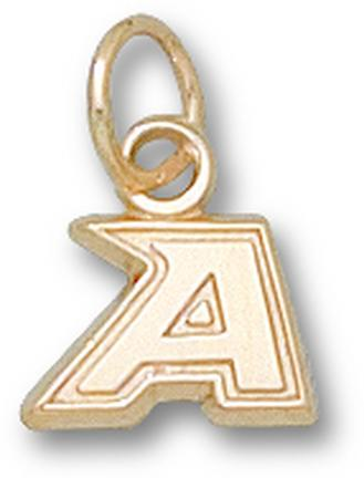 "Army Black Knights New ""A"" 1/4"" Charm - 14KT Gold Jewelry"