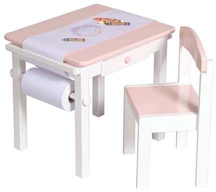 Art Table and Chairs Set (Pink)