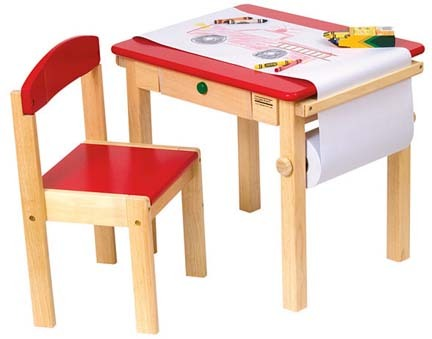 Art Table and Chairs Set (Red)