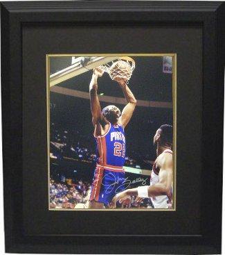 Athlon CTBL-BB14058 John Salley Signed Detroit Pistons Photo Custom Framed - 8 x 10