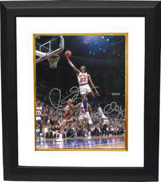 Athlon CTBL-BW14535 John Salley Signed Detroit Pistons Photo Custom Framed - 8 x 10