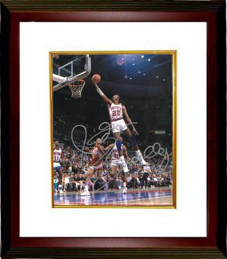 Athlon CTBL-MW14535 John Salley Signed Detroit Pistons Photo Custom Framed - 8 x 10