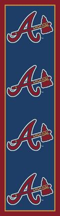"Atlanta Braves 2' 1"" x 7' 8"" Team Repeat Area Rug Runner"