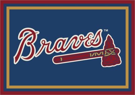 "Atlanta Braves 3'10"" x 5'4"" Team Spirit Area Rug"