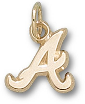 "Atlanta Braves ""A"" 3/8"" Charm - 14KT Gold Jewelry"