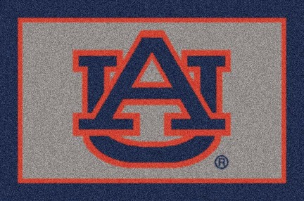 "Auburn Tigers ""AU"" 3'10""x 5'4"" Team Spirit Area Rug"