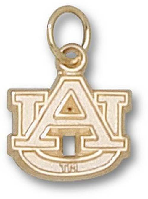 "Auburn Tigers ""AU"" 3/8"" Charm - 14KT Gold Jewelry"