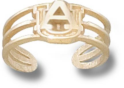 "Auburn Tigers ""AU"" Toe Ring - 10KT Gold Jewelry"