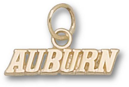 """Auburn Tigers """"Auburn"""" Charm - 14KT Gold Jewelry"""
