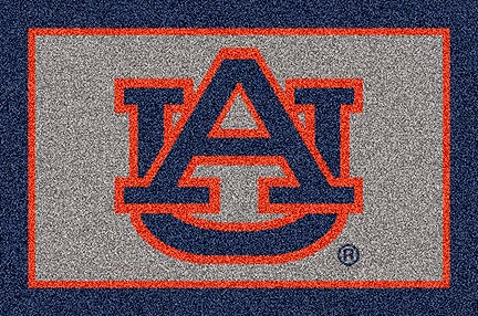 "Auburn Tigers Blue ""UA"" 33"" x 45"" Team Door Mat"