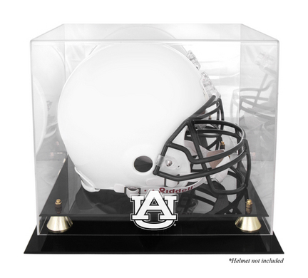 Auburn Tigers Golden Classic Logo Football Helmet Display Case with Mirror Back