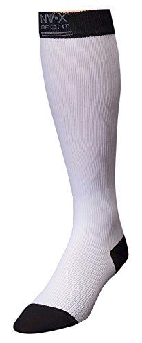 BSN Medical 7769602 15 - 20 mm NV - X Sport Socks for Men White & Black - Large