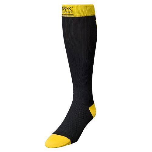 BSN Medical 7769612 15 - 20 mm NV - X Sport Socks for Men Black & Yellow - Large