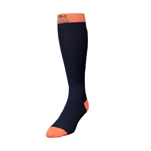 BSN Medical 7769631 15 - 20 mm NV - X Sport Socks for Men Navy & Salmon - Medium