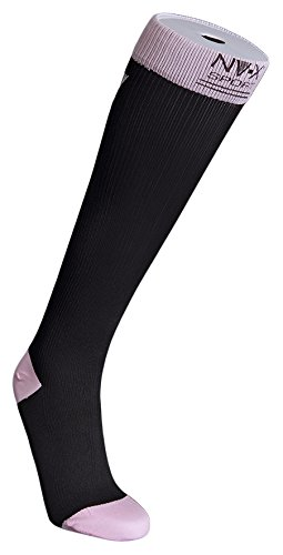 BSN Medical 7769901 15 - 20 mm NV - X Sport Socks for Women Black & pink - Small