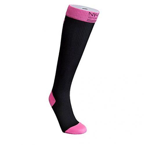 BSN Medical 7769907 15 - 20 mm NV - X Sport Socks for Women Fuchsia - Large