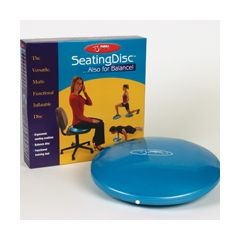 Ball Dynamics International FBSD FitBALL Seating Disc 15in. Iridescent Blue -Retail Box - PVC