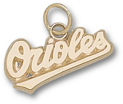 "Baltimore Orioles ""Orioles"" 3/8"" Charm - 10KT Gold Jewelry"