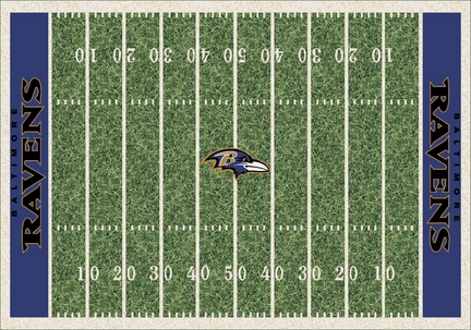 """Baltimore Ravens 3' 10"""" x 5' 4"""" Home Field Area Rug"""