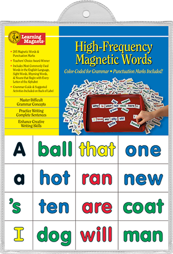 Barker Creek and Lasting Lessons BCP2600 High Frequency Words Learning Magnets 205Pk