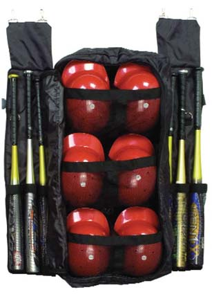Bat and Helmet Combo Fence Bag (Set of 2)