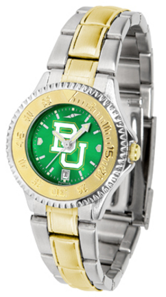 Baylor Bears Competitor AnoChrome Ladies Watch with Two-Tone Band