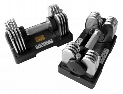 Bayou Fitness Products BF-0225 Pair of 25 lb. Adjustable Dumbbells