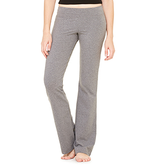 Bella-Canvas B810 Womens Cotton Spandex Fitness Pant - Deep Heather Small