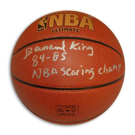 "Bernard King Autographed Indoor/Outdoor Basketball Inscribed ""84-85 NBA Scoring Champ"