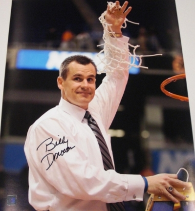 "Billy Donovan Autographed Florida Gators Basketball 16"" x 20"" National Championship ""Net"" Photograph (Unframed)"