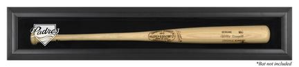 Black Framed Single Baseball Bat (BC-2) Display Case with San Diego Padres Logo