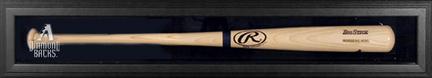 Black Framed Single Bat Display Case with 2007 Arizona Diamondbacks Logo