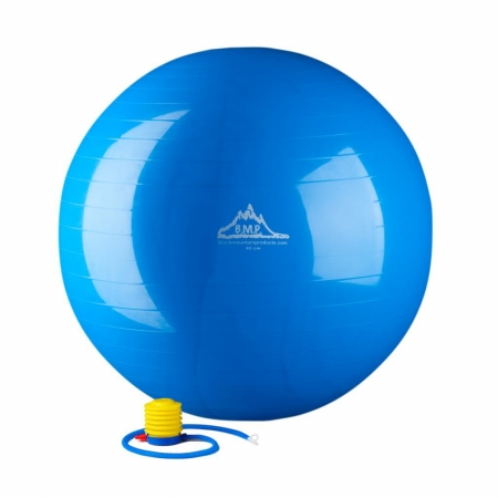 Black Mountain Products 55cm Red Gym Ball 2000 lbs Static Strength Exercise Stability Ball with Pump Red - 55 cm