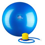 Black Mountain Products 65cm Blue Gym Ball 65 cm. Static Strength Exercise Stability Ball Blue