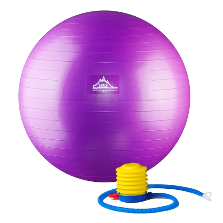 Black Mountain Products PSPURP 55CM 2000 lbs Professional Grade Stability Ball with Pump Purple - 55 cm