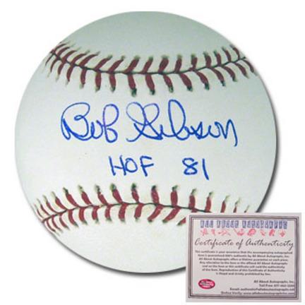 "Bob Gibson Autographed Rawlings MLB Baseball with ""HOF 81"" Inscription"