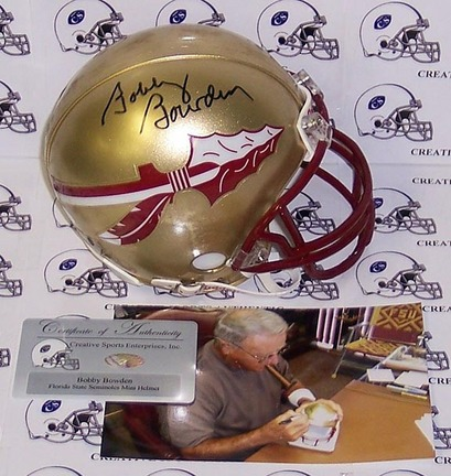 Bobby Bowden Autographed Florida State Seminoles Mini Football Helmet