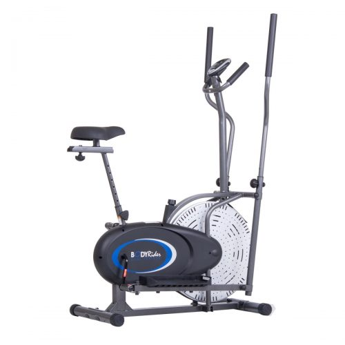 Body Flex Sports BRD2835 2 in 1 Dual Trainer Calories Burn Adjust Vertically Exercise Bike