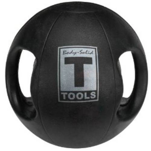 Body Solid Tools BSTDMB10 Dual Grip Medicine Ball 10 lbs.