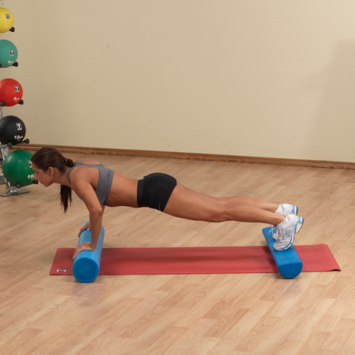 Body Solid Tools BSTFR36H 36 in. Foam Roller Blue - Full