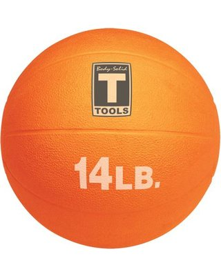 Body Solid Tools BSTMB14 14 lbs. Orange Medicine Ball
