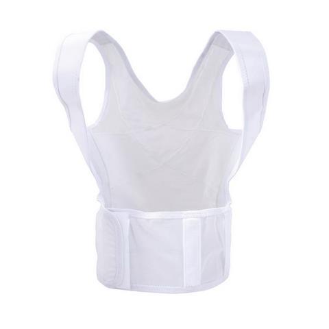 Body Sport BDS1283X Dorsal Vest Adjustable WaistbandWhite - 3XL