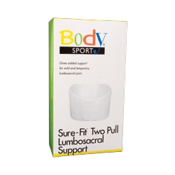 Body Sport BDS183XLG Body Sport Sure-Fit Two-Pull Lumbosacral Support - Knitted Construction