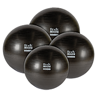 Body Sport BDS6PF65AB Eco Series Exercise Ball 6P Anti-Burst Black - 65 cm