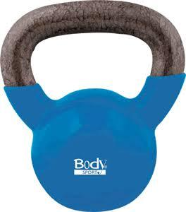 Body Sport BDSKB18 Latex-Free 18 lbs Kettlebell Blue