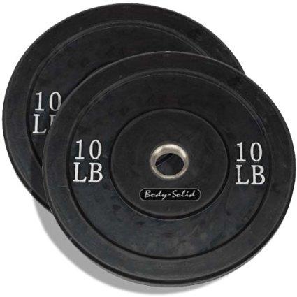 Body Sport BDSRBP10 10 lbs Rubber Bumper Plate Black